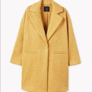 Mango Mohair Blend Coat S/M